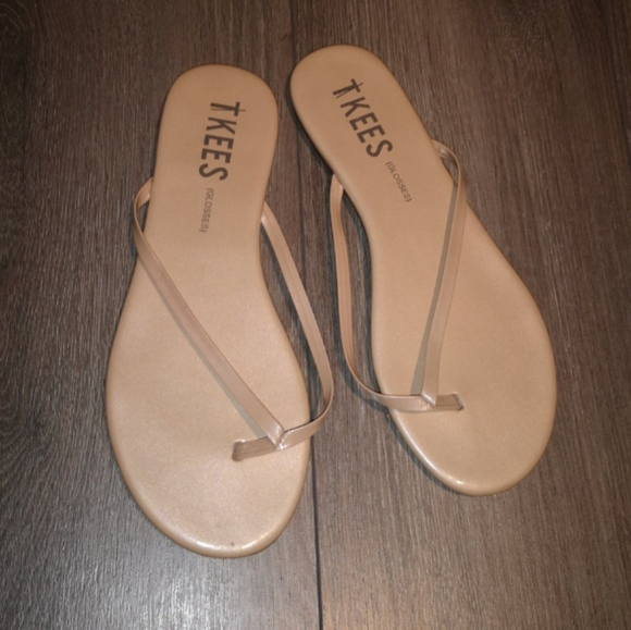 TKEES Shoes - Tkees glosses nude flip flop